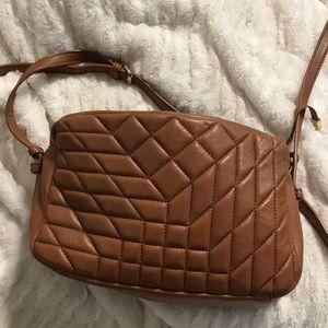 Badgley Mischka Crossbody Bag Tan Leather Brown